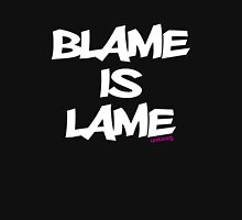 BLAME IS LAME! (white) Unisex T-Shirt