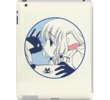 Chobits: Chi and a cat iPad Case/Skin