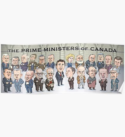 Canada's Prime Ministers Poster