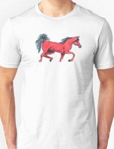 red horse. Unisex T-Shirt