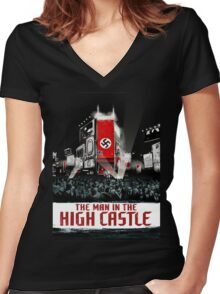 Man in The High Castle  Women's Fitted V-Neck T-Shirt