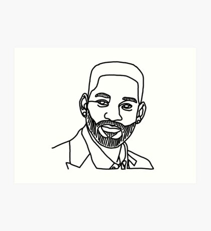 Will Smith One Line Art Print