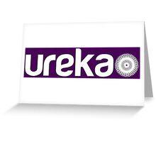 ureka: earth heart community - logo (white) Greeting Card