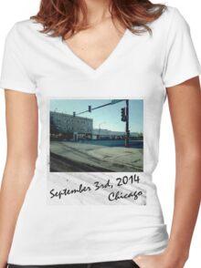 Street Corner (2) Women's Fitted V-Neck T-Shirt