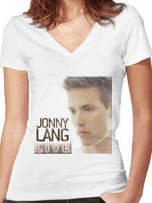 JONNY LANG LIVE CONCERT Women's Fitted V-Neck T-Shirt