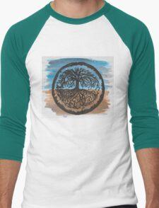 Tree Print #1 Men's Baseball ¾ T-Shirt