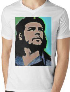 GUEVARA Mens V-Neck T-Shirt