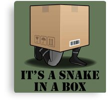 Its a Snake in a box Canvas Print