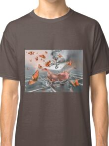 Orange butterfly explosion Classic T-Shirt