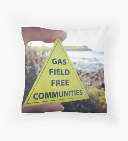 Gasfield Free CommUNITY Throw Pillow