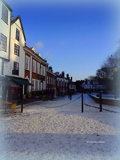 Snow at the Cathedral Close by Charmiene Maxwell-Batten