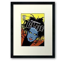 Post-Punk Blue Framed Print