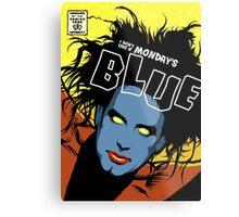 Post-Punk Blue Metal Print
