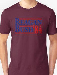 REAGAN BUSH 84 Retro Tee Shirt Ronald George HW vintage Republican Election 1984 T-Shirt