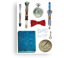 Doctor Who Starter Pack Canvas Print