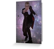 Doctor Who: 12th Doctor Galaxy Print Greeting Card