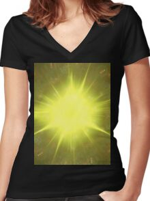Holy Fucking Electric Silk Cloth Women's Fitted V-Neck T-Shirt