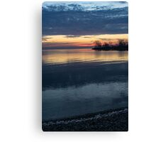 Stripes and Layers - Sunrise on the Lake Shore Canvas Print