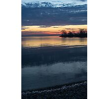 Stripes and Layers - Sunrise on the Lake Shore Photographic Print