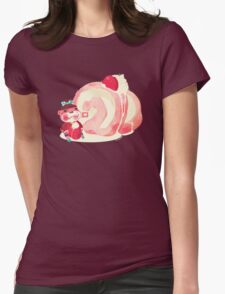 Pink Swiss Roll Womens Fitted T-Shirt