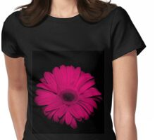 Pink  Gerbera.... on black... Womens Fitted T-Shirt