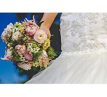 Bouquet & Dress  Photographic Print