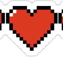 Pixel hearts Sticker