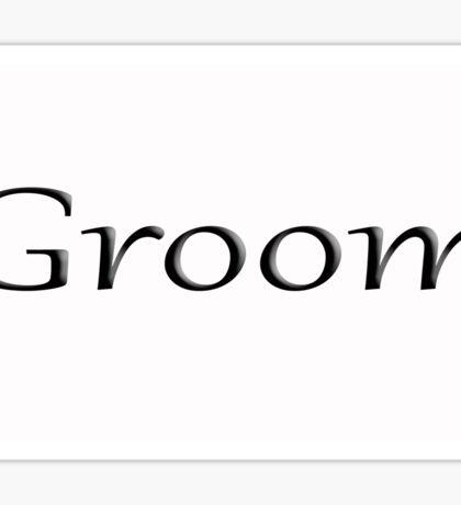 Groom Sticker