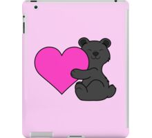 Valentine's Day Black Bear with Pink Heart iPad Case/Skin