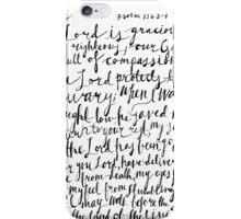 Psalm 116 Bible Verse | Modern Calligraphy iPhone Case/Skin