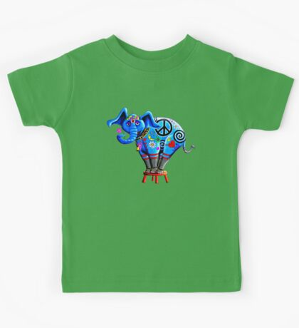 Peace Elephant Kids Tee