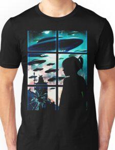Baby Look Space in Window Unisex T-Shirt