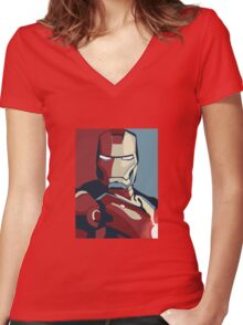Tin man Women's Fitted V-Neck T-Shirt