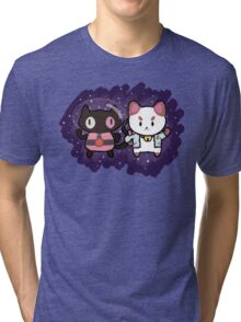 SPACE CATS! Tri-blend T-Shirt