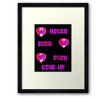 Never Ever Give Up CMC Framed Print