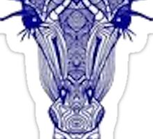 Blue Detailed Giraffe Sticker