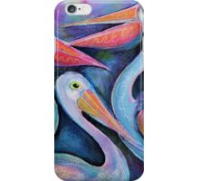 Five Pelicans chatting iPhone Case/Skin