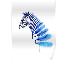 Tumblr Watercolor Zebra Poster