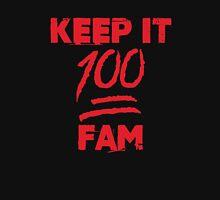 Keep it 100 fam - version 1 - Red Unisex T-Shirt