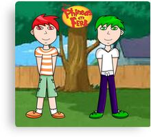 Phineas and Ferb! Canvas Print