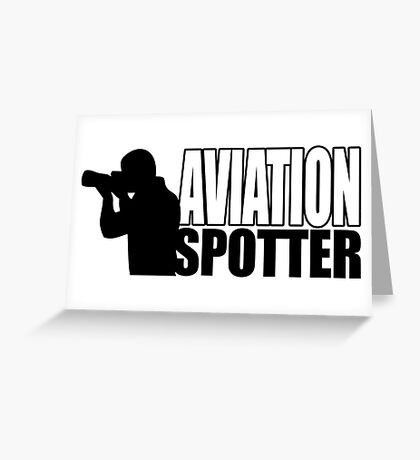 Aviation spotter photo Greeting Card