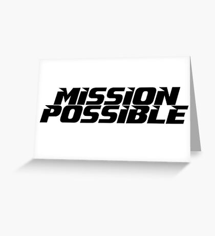 Mission imossible Movie T-Shirt Greeting Card