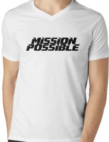 Mission imossible Movie T-Shirt Mens V-Neck T-Shirt