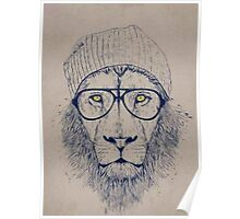 Hipster Lion Poster