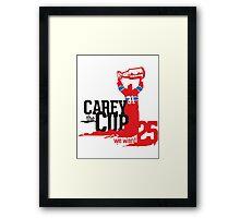 Carey The Cup Framed Print
