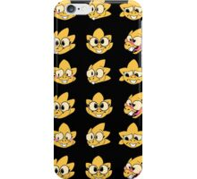 Alphys faces iPhone Case/Skin