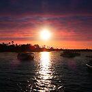 Zambezi River at sunset S.A.  2014 by Maureen Clark