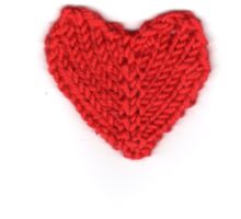 Red love heart knitted for your valentine Sticker