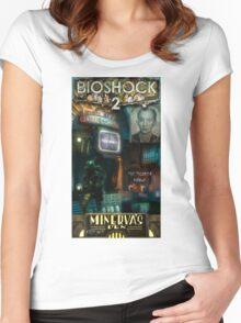 Bioshock 2 : Miverva's Den  Women's Fitted Scoop T-Shirt