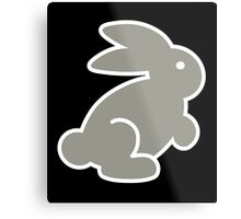 HOPPING BUNNY, by Furrphy's Metal Print